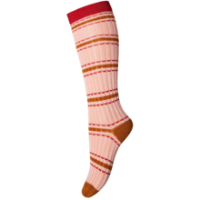 MP Viscose/Bamboo Rib Rose w. Stripes