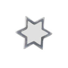 Design Letters Star Charm Sterling Silver White