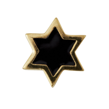 Design Letters Star Charm GOLD Plated Black