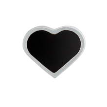 Design Letters Heart Charm Sterling Silver Black