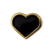 Design Letters Heart Charm Gold Plated Silver Black