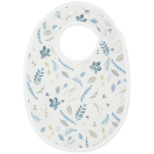 Cam Cam Bib Pressed Leaves Blue
