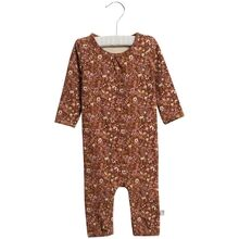Wheat Nutella Flowers Jumpsuit