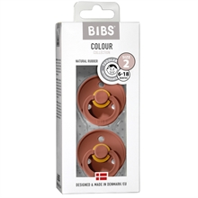 Bibs Colour Latex Pacifiers 2-pak Round Woodchuck