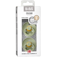 Bibs Colour Latex Pacifiers 2-pak Round Sage