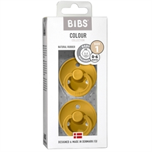 Bibs Colour Latex Pacifiers 2-pak Round Mustard