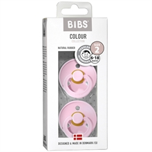 Bibs Colour Latex Pacifiers 2-pak Round Baby Pink