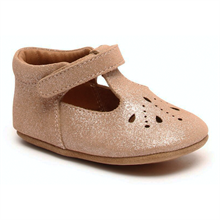 Bisgaard Home Shoe Bloom Glitter Nude
