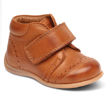 Bisgaard First Step Velcro Cognac