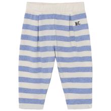 Bobo Choses White/Blue Striped Trousers