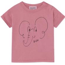 Bobo Choses Elephant Short Sleeve T-shirt Red