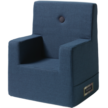 KK Kids Chair XL Dark Blue w. Black Button