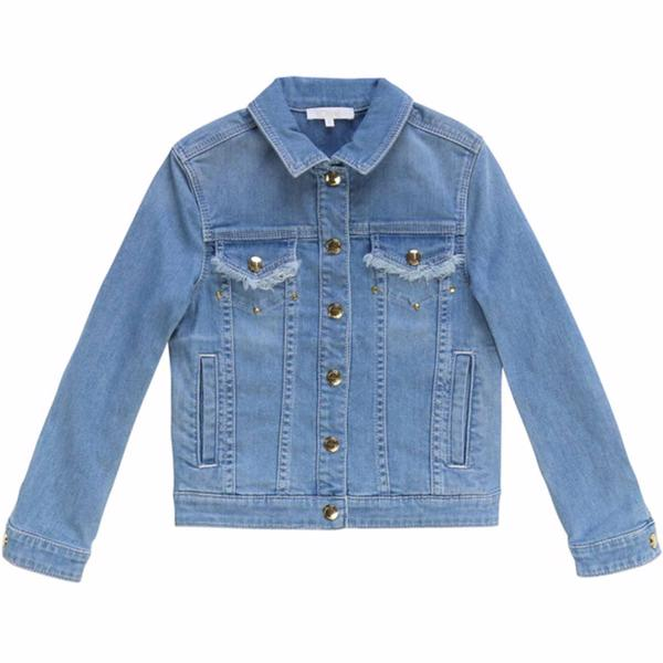 Chloé Denim Logo Jacket Blue