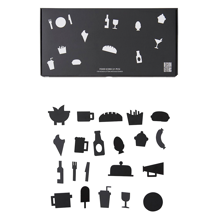 Design Letters Food Icons for Messageboard Black