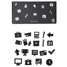 Design Letters Office Icons for Messageboard Black