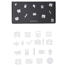Design Letters Office Icons for Messageboard White