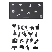 Design Letters Party Icons for Messageboard Black