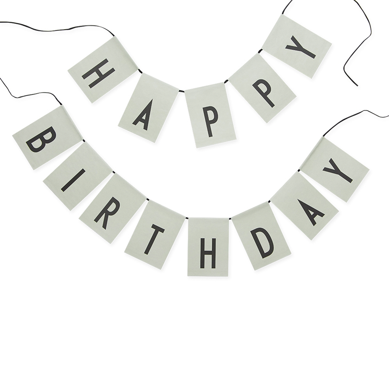 designletters happy birthday flag green