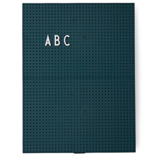 DesignLetters-message-board-dark-green-a4