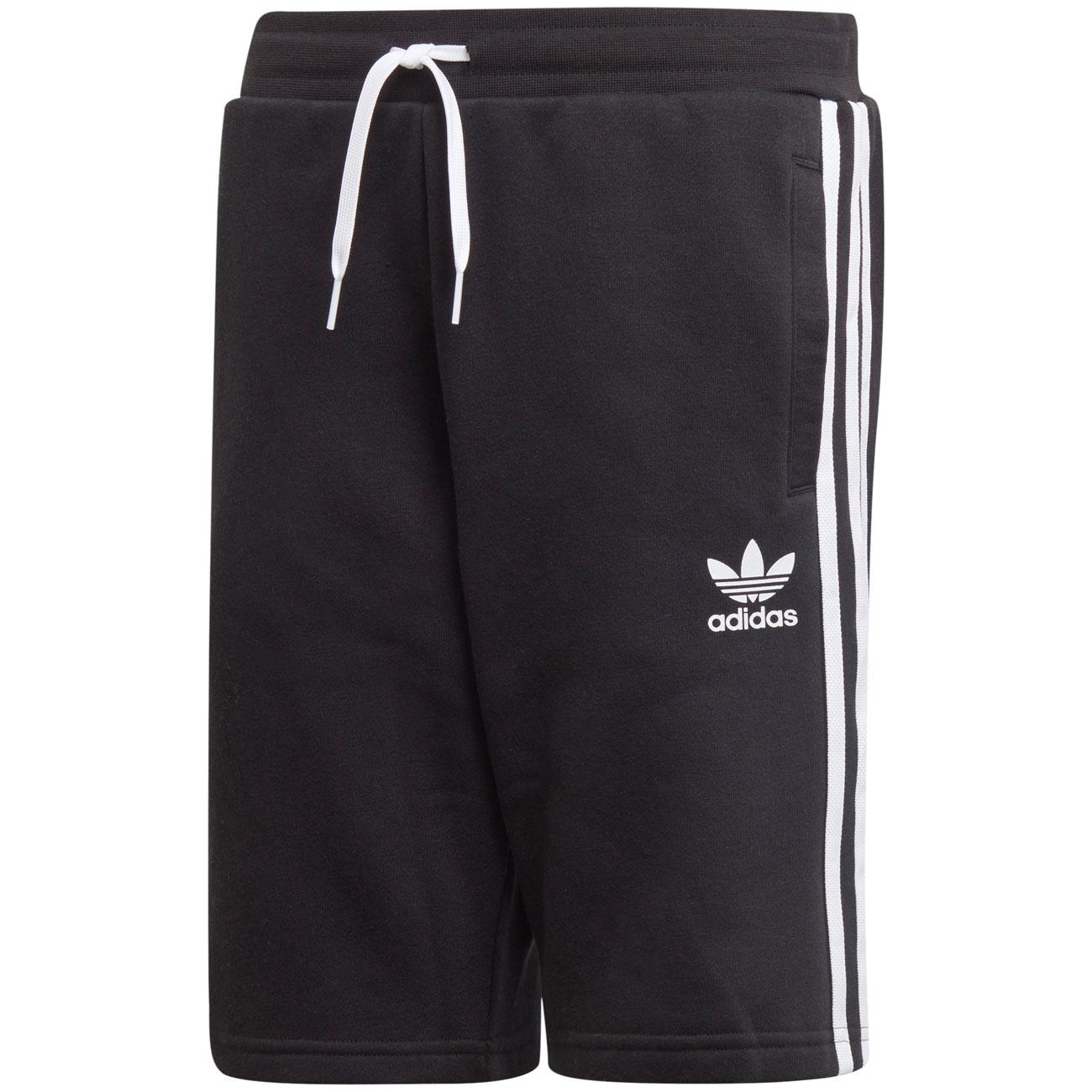 d8faa391f05 adidas Fleece Shorts Black/White