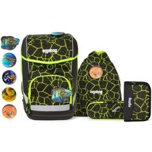Ergobag Lumi Cubo School Bag Set Dragon RideBear Lava Yellow
