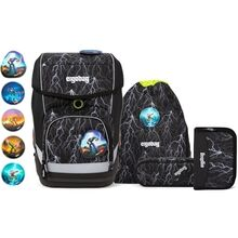 Ergobag Glow Cubo School Bag Set Super ReflectBear Black Blizzard