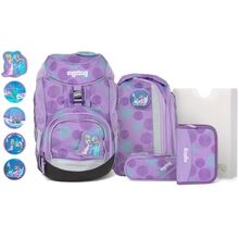Ergobag Pack Glow School Bag Set SleighBear Purple Ice Flowers