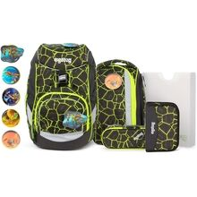 Ergobag Lumi Pack School Bag Set Dragon RideBear Lava Yellow