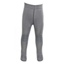 GObabyGO Crawling Tights Wool (dark grey melange)