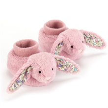 Jellycat Bashful Rabbit Booties Blossom Tulip