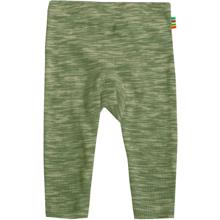 Joha Green Melange Cotton Rib Leggings