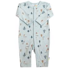 Joha Wool Light Blue AOP Fox Jumpsuit