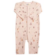 Joha Wool Pink AOP Fox Jumpsuit