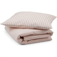 Konges Sløjd Bedding Stripes Strands Havet Whisper Pink/Brick Red