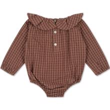 Konges Sløjd Brown Check Adine Collar Romber