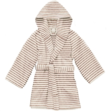Konges Sløjd Terry Bathrobe Striped Bisquit