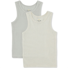 Konges Sløjd Mint/Mint Stripe 2-Pak Tank Top
