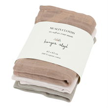 Konges Sløjd Muslin Cloths 3 pk. Rose Dust