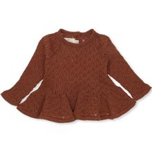Konges Sløjd Fortun Frill Wool Pointelle Knit Toffee