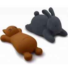 Liewood Vikky Bath Toys Cat Mustard 2-Pack