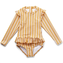 Liewood Sille Swimsuit Stripe Peach Sandy Yellow Mellow