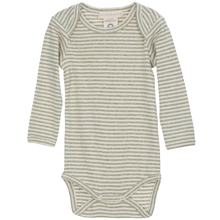 Serendipity Baby Stripe Body Grey/Offwhite