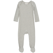 Serendipity Baby Suit Stripe Feet Powder/Offwhite