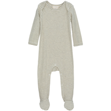 Serendipity Baby Suit Stripe Feet Sage