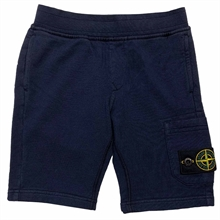 Stone Island Junior Fleece Shorts Navy