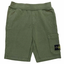 Stone Island Junior Fleece Shorts Musk Green
