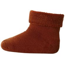 MP-denmark-socks-burned-orange-terry-wool-uld-ankle-girl-pige-boy-dreng-unisex
