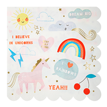 Meri Meri Unicorn Napkins Large 16 pcs