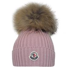 Moncler Beretto Fur Hat Rose