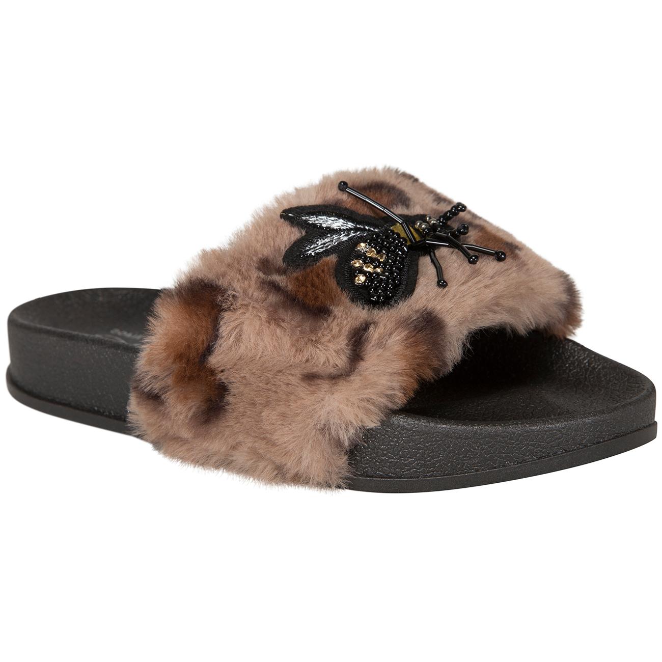 c1b06974c06 Petit by Sofie Schnoor Brown Leopard Sandal Fur